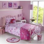 Girls Kids Childrens Pink Purple Birdie Flower Bedroom Duvet Single Bedding Set